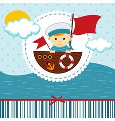 Baby boy sailor vector