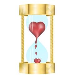 Heart in the hourglass vector