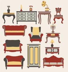 Furniture in vintage style vector