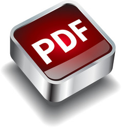 Pdf download icon button internet vector