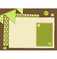 Scrapbooking green layout vector