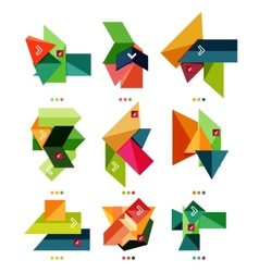 Collection of colorful business geometric shapes vector