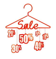 Sale hanger vector