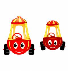 Child cars raicing vector