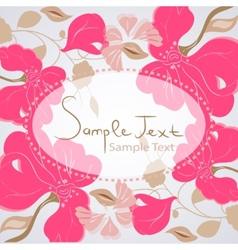 Floral background card vector