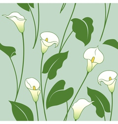 Calla lily pattern vector