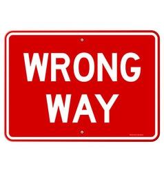 Wrong way sign vector