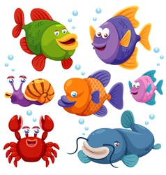 Fish collection vector