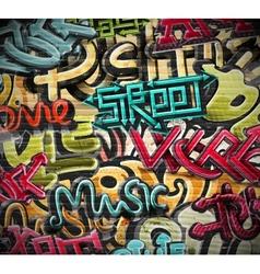 Graffiti grunge texture vector