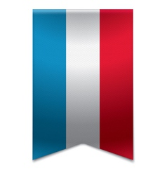 Ribbon banner - flag of luxembourg vector