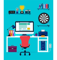 Computer and office equipment vector