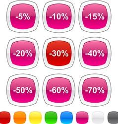 Percent icons vector