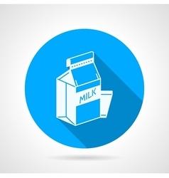 Contour icon for pasteurized milk vector