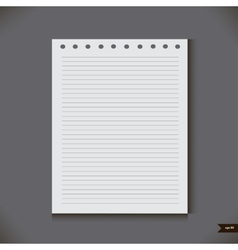 White notebook with lines vector