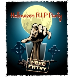 Zombie party halloween poster vector