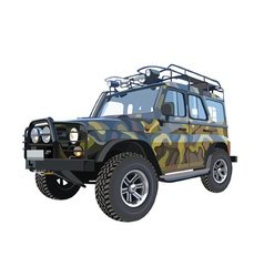 Uaz car suv camouflage colors vector