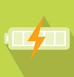 Battery charger icon vector