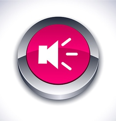 Sound 3d button vector