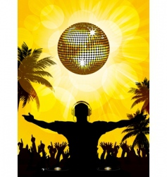 Tropical dj and party vector