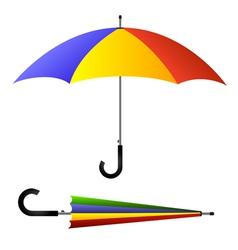 Umbrella open and closed vector