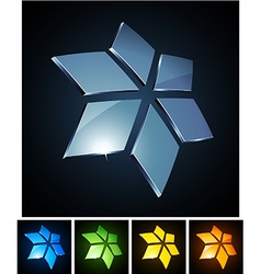 Star vibrant emblems vector