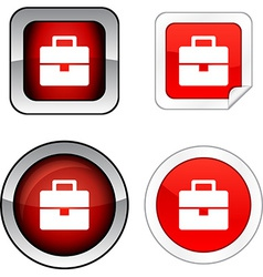 Bag button set vector