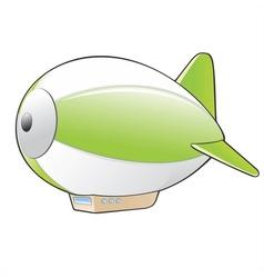 Cartoon zeppelin vector