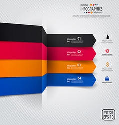 Line infographics 4 vector