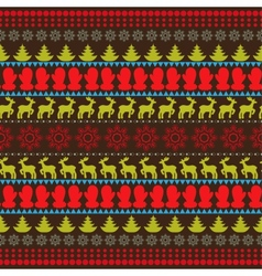 Traditional christmas seamless horizontal pattern vector