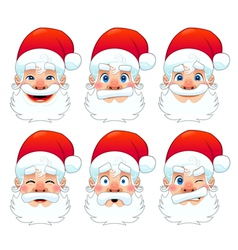 Santa claus multiple expressions vector