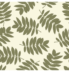 Ash leaves seamless background for your design vector