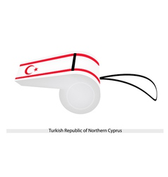 A whistle of turkish republic of northern cyprus vector