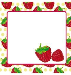 Card of blackberries on blackberries pattern backg vector