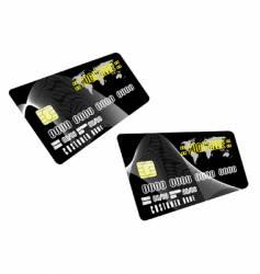 Black cards vector