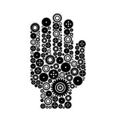 Hand a gear wheel vector