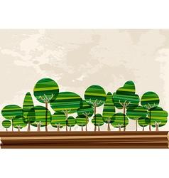 Multicolor forest landscape vector