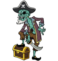 Pirate zombie vector