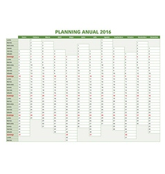 Annual planner spanish 2016indd vector
