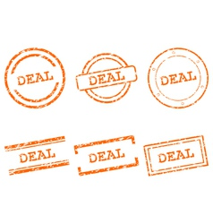 Deal stamps vector