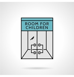 Playroom flat color icon vector