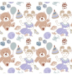 Toy childhood bear cute teddy gift isolated vector