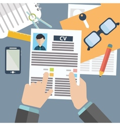 Concept of human resources management finding vector
