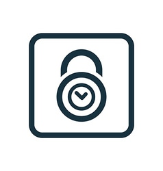 Time lock icon rounded squares button vector