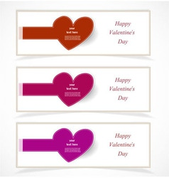 Valentines day banners vector