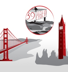 Icon san francisco vector