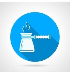 Contour icon for coffee pot vector