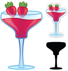 Strawberry daiquiri vector