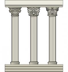Roman architectural columns vector