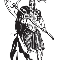 Warrior vector