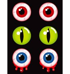 Halloween eyes vector